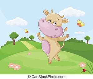 dancing cow