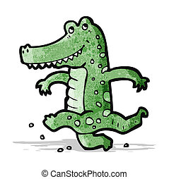 dancing crocodile cartoon