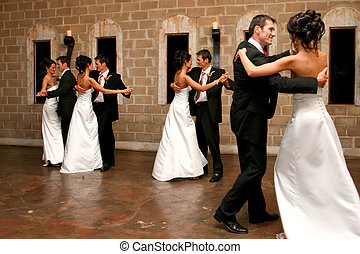 Dancing Double - A Bride and Groom opening the dance floor