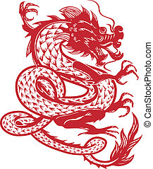 Dancing Dragon - A red dragon that appears to be dancing