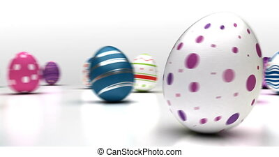 Dancing Easter Eggs (Seamless)