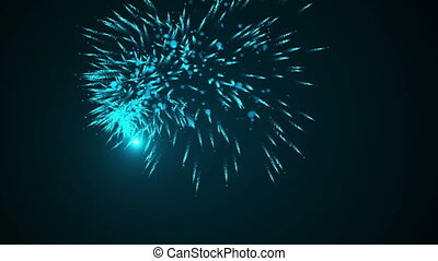 Dancing Fireworks Particles Light Streak Looping Motion 4K...