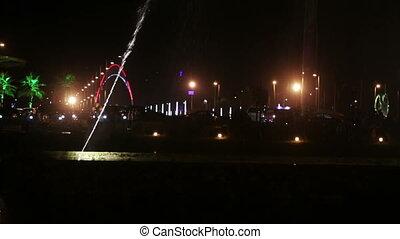 Dancing fountain at night