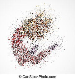 Dancing girl - Abstract image of a dancing girl from the ...