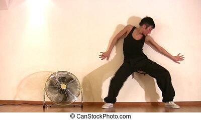 dancing girl and fan