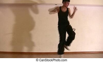 dancing girl and shadow