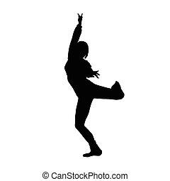 dancing girl black silhouette