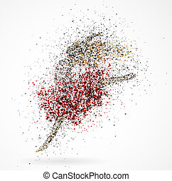 Dancing girl - Abstract image of a dancing girl from the...
