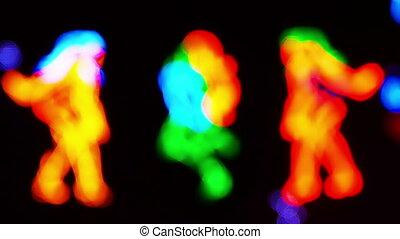 Dancing girls neon sign