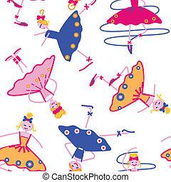 dancing girls seamless pattern