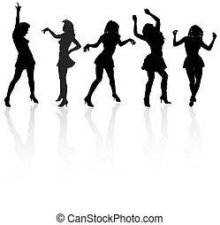 dancing girls silh