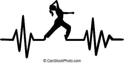 Dancing heartbeat pulse
