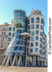 Dancing house in Prague. Czech republic