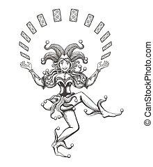 Dancing Joker Girl