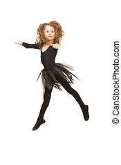 Dancing little girl in the air