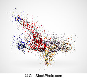 Dancing male - Abstract image of a dancing male from the...