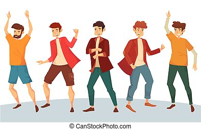 Dancing man or boy dancer at disco party
