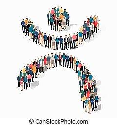 dancing man symbol people