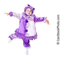 Dancing marionette - Adorable dancing girl in clown costume ...