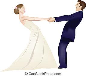 Dancing married couple
