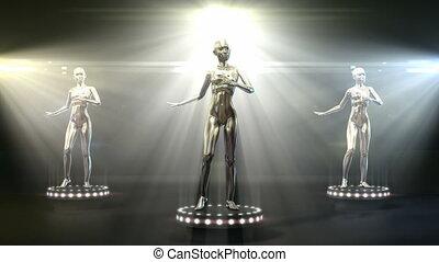 Dancing metal models
