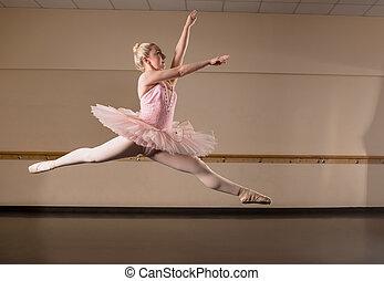 dancing, mooi, ballerina, tutu, roze