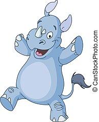 dancing, neushoorn