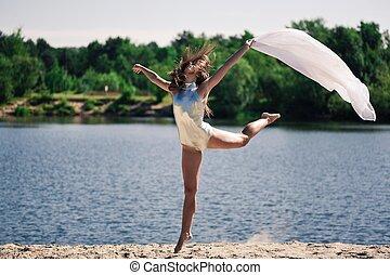 Dancing outdoor