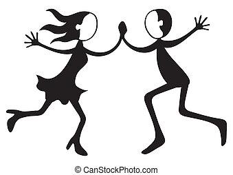 dancing, paar