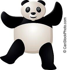 Dancing panda vector icon