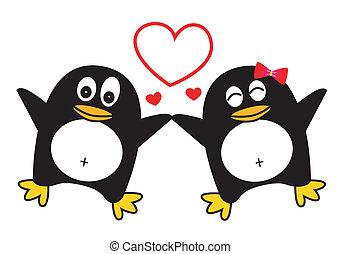 Dancing Penguin Couple