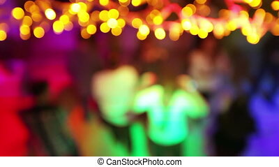 Dancing people bokeh