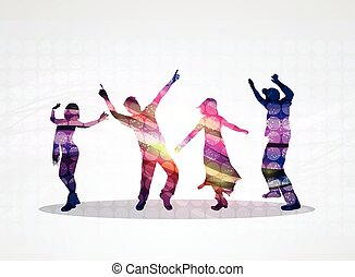 Dancing people