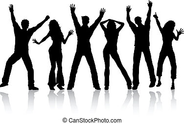 Dancing people - Silhouettes of people dancing