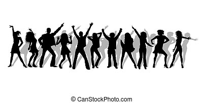 dancing people silhouettes
