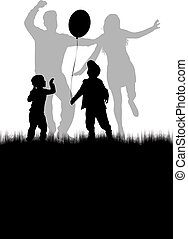 Dancing people silhouettes. Vector work.