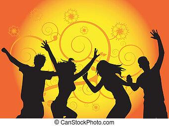 dancing people vector  work