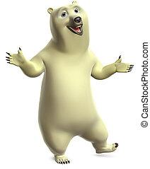 dancing polar bear - cartoon polar bear
