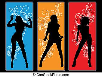 Dancing Queens - Dancing girls in retro look