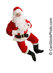 Dancing Santa Airborne - Happy dancing Santa Claus jumps in...