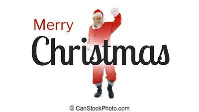 Dancing Santa Claus 4k
