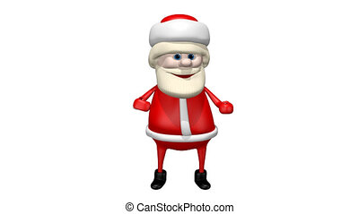 Dancing Santa Claus_alpha channel