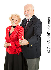 Dancing Seniors Thumbs Up