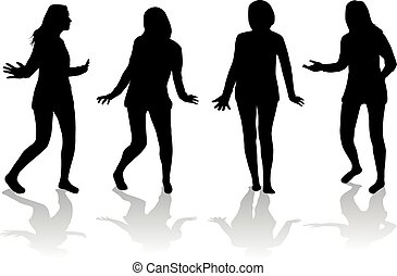 Dancing silhouette of a woman.