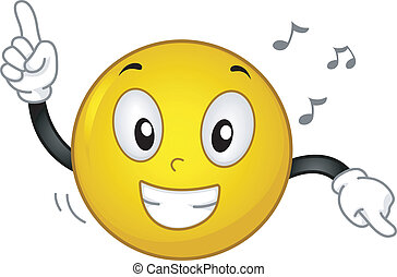 Dancing Smiley - Illustration of a Grinning Smiley Dancing...
