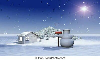 Dancing snowman