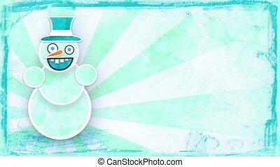 dancing snowman with loop