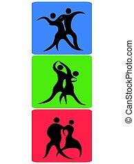 dancing symbol buttons