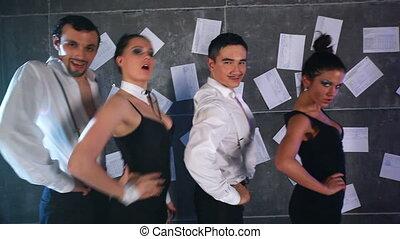 Dancing team.
