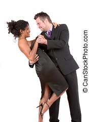 Dancing the night away - Pretty couple dancing